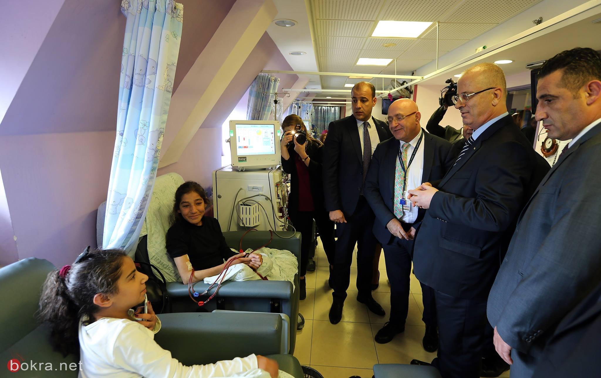 القدس: الحمد الله يتفقد مستشفى المطلع ويطلع على عمل واحتياجات الأقسام فيه