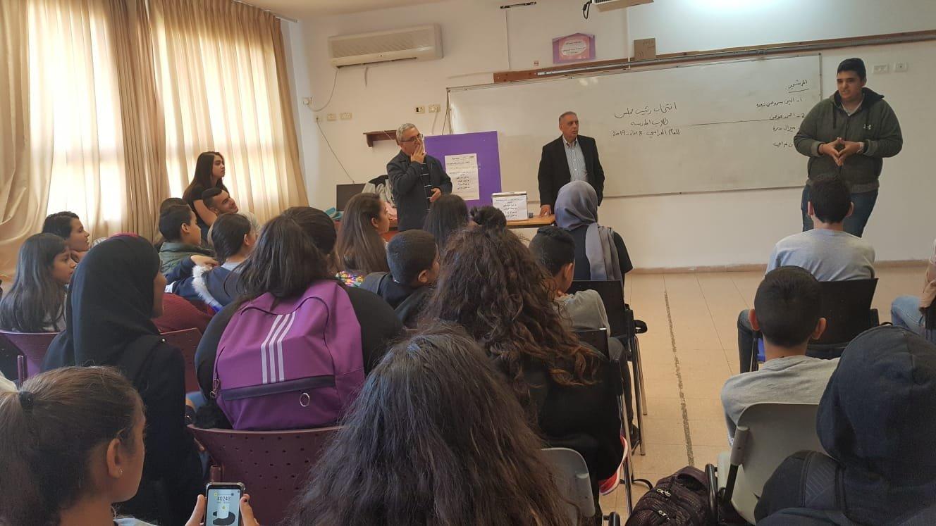 طلاب مدرسة أورط حلمي الشافعي – عكا ينتخبون رئيس مجلس جديد للعام الدراسي 2018-2019