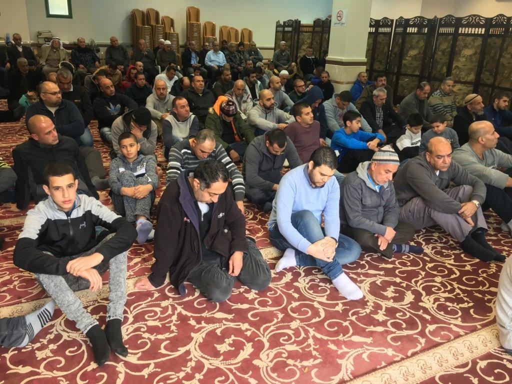 جامع عمر المختار يافة الناصرة يودع 2017 بشعائر الجمعة