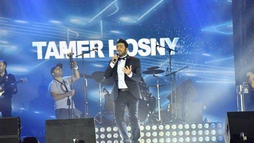 ماذا فعل تامر حسني في حفله الأول في السعودية؟