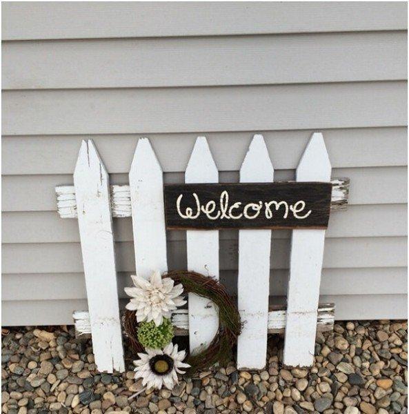 9 أفكار مميزة للافتة ترحيب في واجهة المنزل