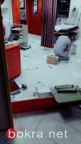 مسلحون يطلقون النار ويحدثون خرابا كبيرا في مستشفى الرازي بجنين