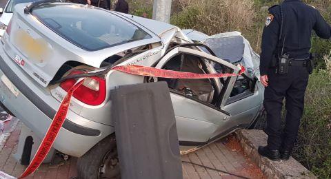 اصابة شاب بصورة خطرة جراء حادث قرب كفرسميع