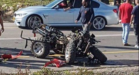 حادث كفر كنا بالأمس: اعتقال السائق المشتبه من طرعان