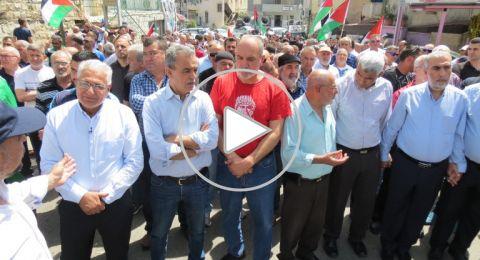 اختتام المظاهرة القطرية التضامنية مع غزة في سخنين.