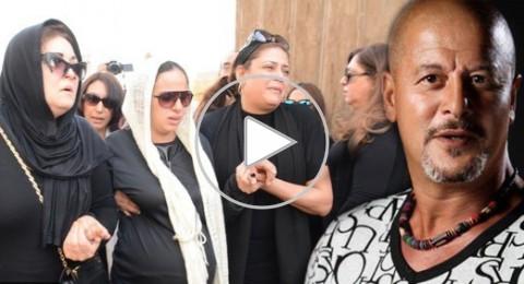 انهيار زوجة الفنان وائل نور الحامل أثناء تشيعه
