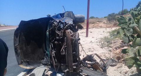 طمرة: اصابة خطيرة لشاب (21 عاما) جراء انقلاب سيارته