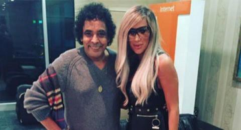 مايا دياب تنشر صورة لها مع محمد منير.. ورواد إنستجرام: