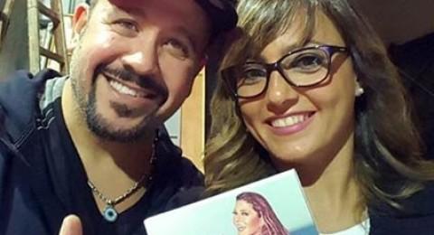 هشام عباس وبشرى يحتفلان بألبوم سميرة سعيد