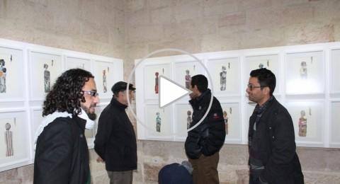 رام الله: افتتاح المعرض الفني