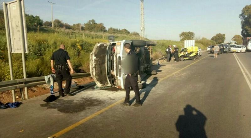 11 إصابة بحادث طرق مروّع قرب الناصرة