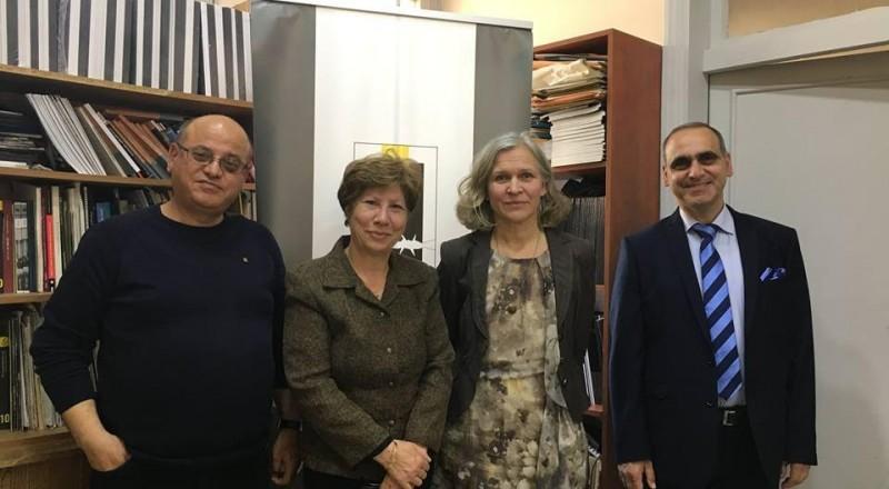 زيارة سفيرة فنلندا للمؤسسة العربية لحقوق الانسان