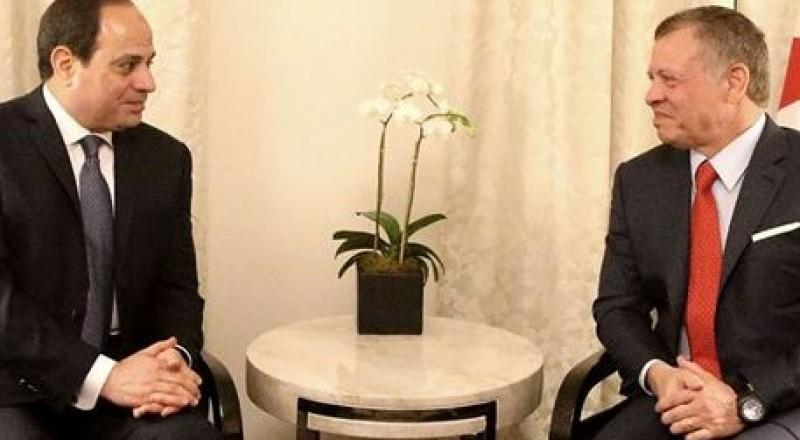 الملك عبد الله والسيسي يؤكدان ضرورة الحل العادل لقضية فلسطين
