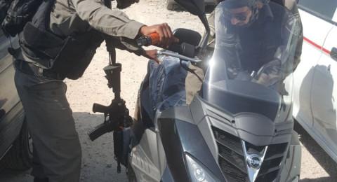 معبر قلنديا: اعتقال مشتبه بسرقة دراجة نارية ثقيلة من الجولان