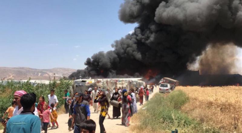 قتلى وإصابات في حريق بمخيم للاجئين السوريين بسهل البقاع في لبنان