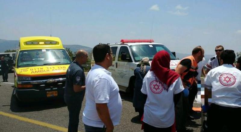 اصابة فتاة من نحف في حادث دهس بالقرب من مفترق لبون
