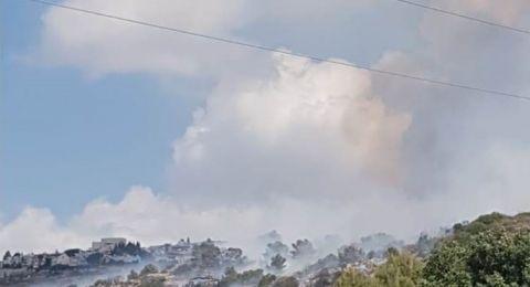 حريق في قاعدة عسكرية بجبال الكرمل