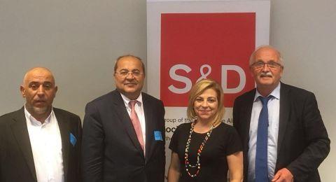 الطيبي وأبو عرار يجتمعان برئيس الحزب الاشتراكي في البرلمان الأوروبي
