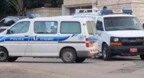 الشرطة تستولي على مجرم - لص مسلح في مدينة ام الفحم أثناء هروبة