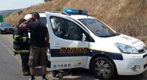 اصابة خطيرة في حادث طرق بالقرب من المجيدل