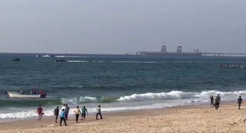 إصابات بقمع الاحتلال للمسير البحري السادس