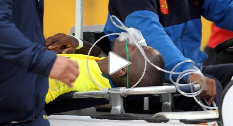 الشرطة تطارد فالنسيا نجم الإكوادور المصاب داخل سيارة الإسعاف في الملعب