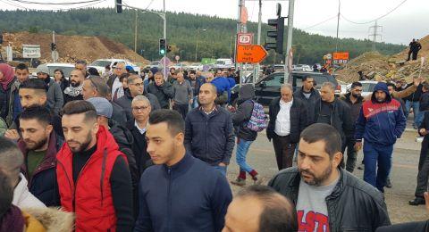العشرات في تظاهرة احتجاجية لمنع هدم قسطل صفورية