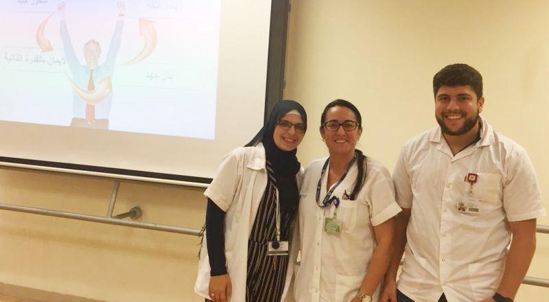 طاقم كلاليت في عيادة كيبوتس غاليوت يساهم في تعزيز الصحة باللغة العربية والروسية