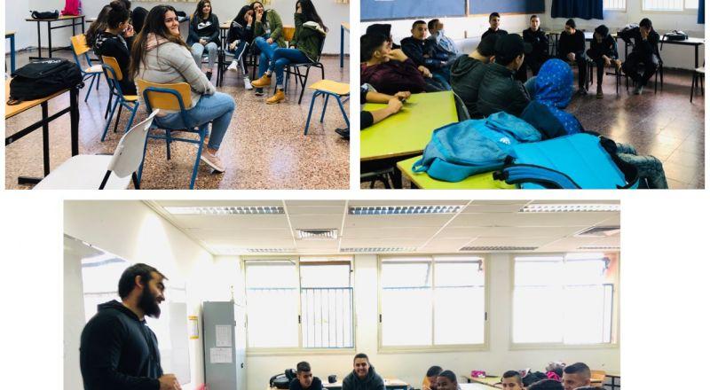 مدرسة المتنبّي في حيفا تستضيف برنامج سينما درايف ضمن فعاليّات الحذر على الطرق