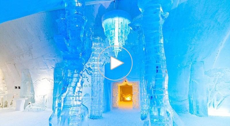 الفندق الجليدي في كندا متاح للزوار حتى 24 مارس