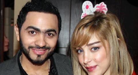 تامر حسني رغم انفصاله عن زوجته.. رزق بابنته الثانية