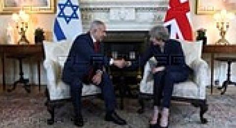 نتنياهو يبحث مع ماي سبل مواجهة الخطر الإيراني
