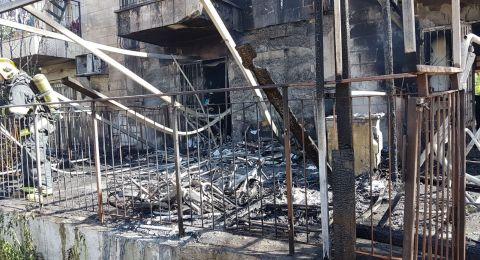 القدس: احتراق منزلين والحاق اضرار في حريقا بحي سنهدريا
