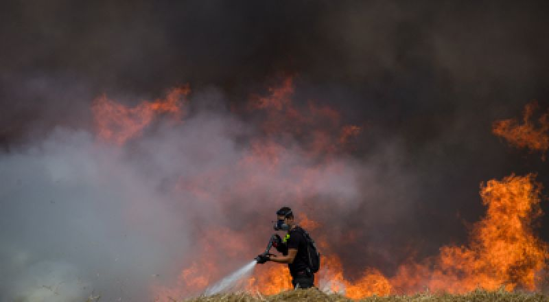 حريق في مستوطنة