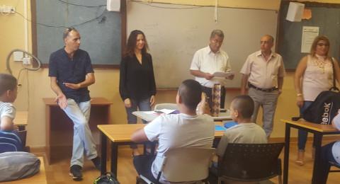 أجواء من الفرح والسعادة في مدرسة أورط على أسم حلمي الشافعي عكا بمناسبة افتتاح العام الدراسي الجديد