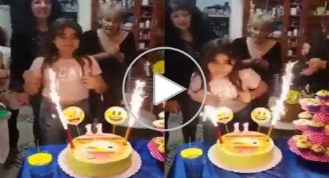 كارثة تصيب طفلة مكسيكية أثناء الإحتفال بعيد ميلادها