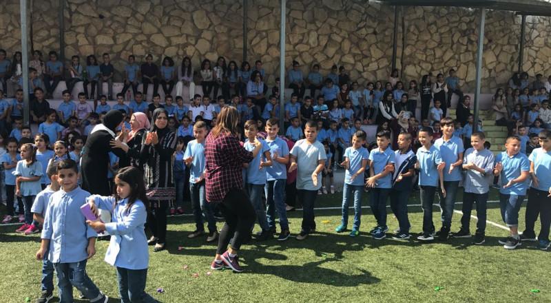 مدارس طلعة عارة تفتتح العام الدراسي وسط اجواء بهيجة