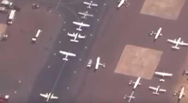 هروب جماعي لطائرات فلوريدا من إعصار ايرما