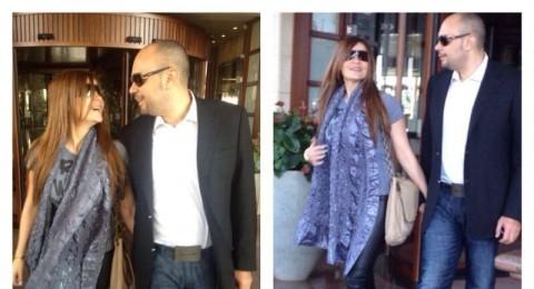 الصور الأولى لكارول سماحة وزوجها وليد مصطفى بعد وصولهما إلى بيروت
