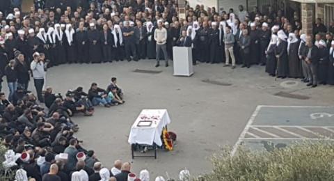 بيت جن تشيع جثمان ضحية جريمة القتل الشاب سعيد قبلان