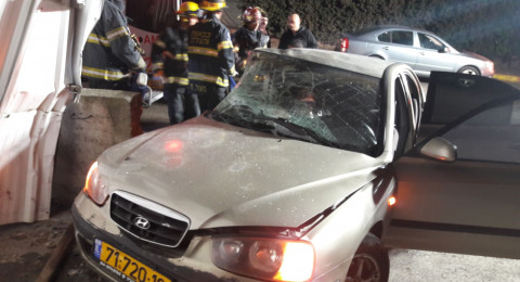 3 إصابات خطيرة بحادث مروع في مدخل البعنة .. تحذير للسائقين من حالة الطقس