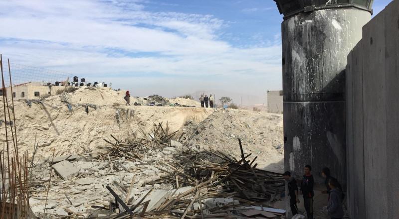 هدم منشآت فلسطينية في ضاحية رأس شحادة