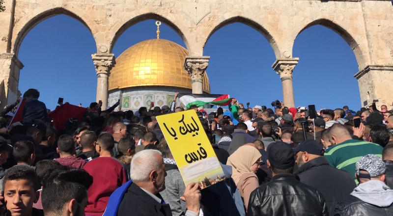 خطيب الاقصى: القرار الامريكي باطل والقدس اسلامية عربية