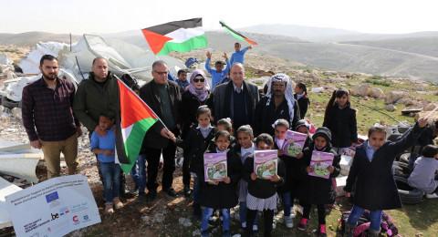 الحسيني يدعو الى تعزيز صمود البدو في