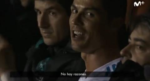 كريستيانو رونالدو غاضب من المصورين بعد استبداله في مباراة ريال مدريد وليفانتي
