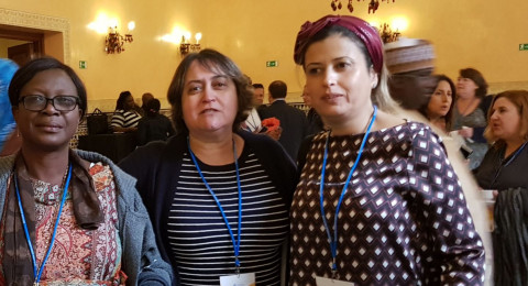 السكرتيرة العامة لنقابة المعلمين يافة بن دافيد تشارك في مؤتمر للمعلمين في دولة المغرب