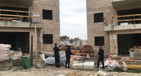 اصابة بالغة لعامل بناء في اشكلون