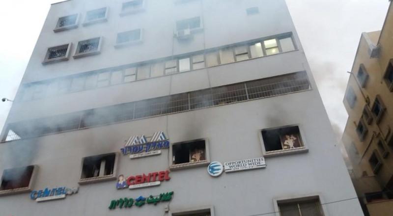 الطيبة: اندلاع النيران في عمارة سكنية دون خسائر بشرية