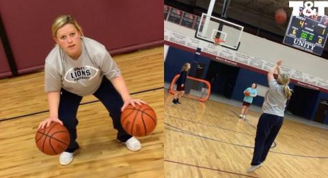 تستعرض مهاراتها في كرة السلة قبل ساعات من إنجاب طفلها