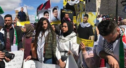 اعتصام بجامعة بيرزيت احتجاجًا على اقتحامها من قبل قوات إسرائيلية